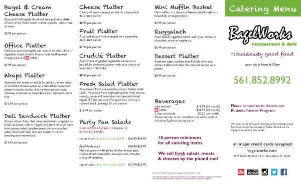 bagelworks menu